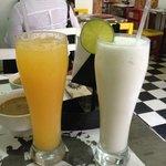 Suco de tangerina e limonada de coco