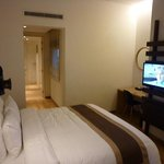 king size bed and tv
