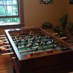 Foosball in the game room