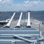 Looking over the aft gun turret