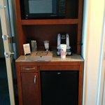 Microwave & Fridge in Room