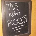 Chalkboard on each hotel room door for fun messages!
