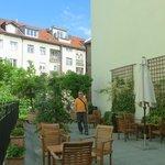 The hotel's little garden