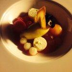 fruta con sorbete maracuya