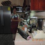Marlena preparing dinner