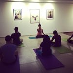 yoga session at drift