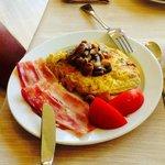 Omlette for breakfast