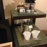 Complimentary coffee, tea, and water