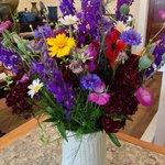 Beautiful utensil holder makes a great flower vase too.