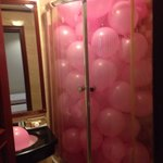 They opened one of the rooms for us to surprise the birthday girl :)