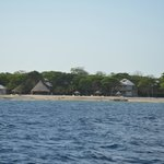 The Utopia Village from off shore (looking north).