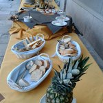 Il buffet dell'evento Passion&Fruit