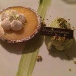 Tarte au citron et glace pistache