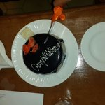 The free surprise cake for us