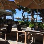 infront of the beach bar