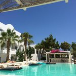 View of the pool and bar from a shady sun lounger. Bliss. Taken with an iPhone
