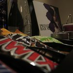 Candy in the room's mini bar