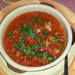 Baby-octopuses in spicy tomato sauce