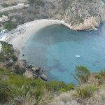 View down on Granadella cove, Javea