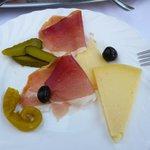formaggio di Pag e prosciutto dalmato