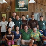 Anaconda Lodge Ecuador Staff, saying good bye to our Guest that came from Chicago!