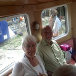 My Dad and Mum on the canal boat.