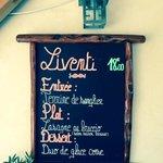 Menu Liventi 18€ / StephHKM 28juillet2014
