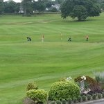 Golfers at the Abbey
