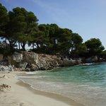 Strand Links - Blick Richtung Meer