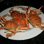 grill cooked crabs
