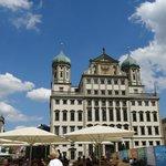 Il Rathaus in Augsburg.