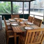 New table on the breakfast sunroom