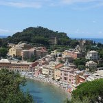 View from the top floor on Sestri Levante