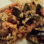 miky's famous flamed seafood risotto