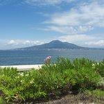 Vista sul Vesuvio dall'hotel