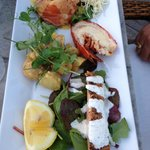 Salmon * 2 & lobster tail