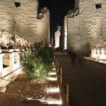 Templo de Karnak de noche