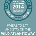 Awarded by John and Sally McKenna of 'Where to eat and stay while on the Wild Atlantic Way Guide