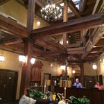 The incredible exposed beams in the lobby.