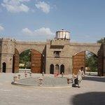 Imposing entry to fairmont jaipur