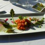 La petite entrée offerte à tous; salade de pastèques