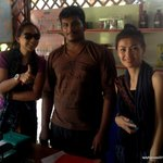 With Kumar, the kind staff who assisted us
