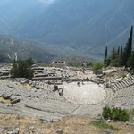 view over amphitheater, Delphi