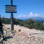 Cycling into Kassiopi