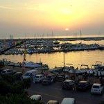 Port at sunset