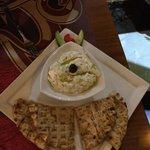 Pita bread con tzatziki