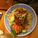 Enchilada vegan plate