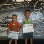 My boys with their Junior Ranger badges and certificates!