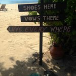 Wedding sign made for all the guests shoes- no added cost- just beautiful