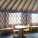 Interior of the yurt behind the shop and near the meadow area
